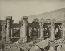 Kashmir. Temple of Marttand or the Sun. View of peristyle, north side of enclosure. Probable date A.D. 693 to 729